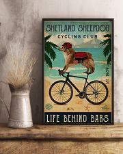 Cycling Club Shetland Sheepdog 11x17 Poster lifestyle-poster-3