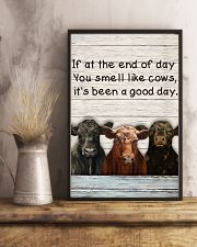 White Pallet You Smell Like Angus Cattle 11x17 Poster lifestyle-poster-3