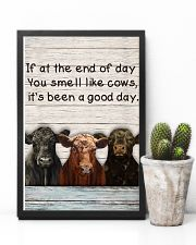 White Pallet You Smell Like Angus Cattle 11x17 Poster lifestyle-poster-8