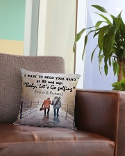 Personalized Golf I Want To Hold Your Hands Square Pillowcase aos-pillow-square-front-lifestyle-03