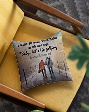 Personalized Golf I Want To Hold Your Hands Square Pillowcase aos-pillow-square-front-lifestyle-07