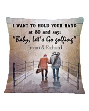 Personalized Golf I Want To Hold Your Hands Square Pillowcase back