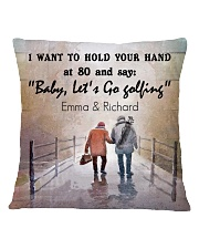 Personalized Golf I Want To Hold Your Hands Square Pillowcase front