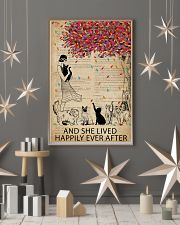 Vintage Dictionary Lived Happily Cats 11x17 Poster lifestyle-holiday-poster-1