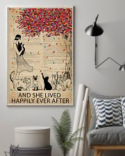 Vintage Dictionary Lived Happily Cats 11x17 Poster lifestyle-poster-1
