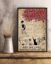 Vintage Dictionary Lived Happily Cats 11x17 Poster lifestyle-poster-3