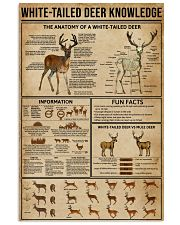 White-Tailed Deer Knowledge 16x24 Poster front