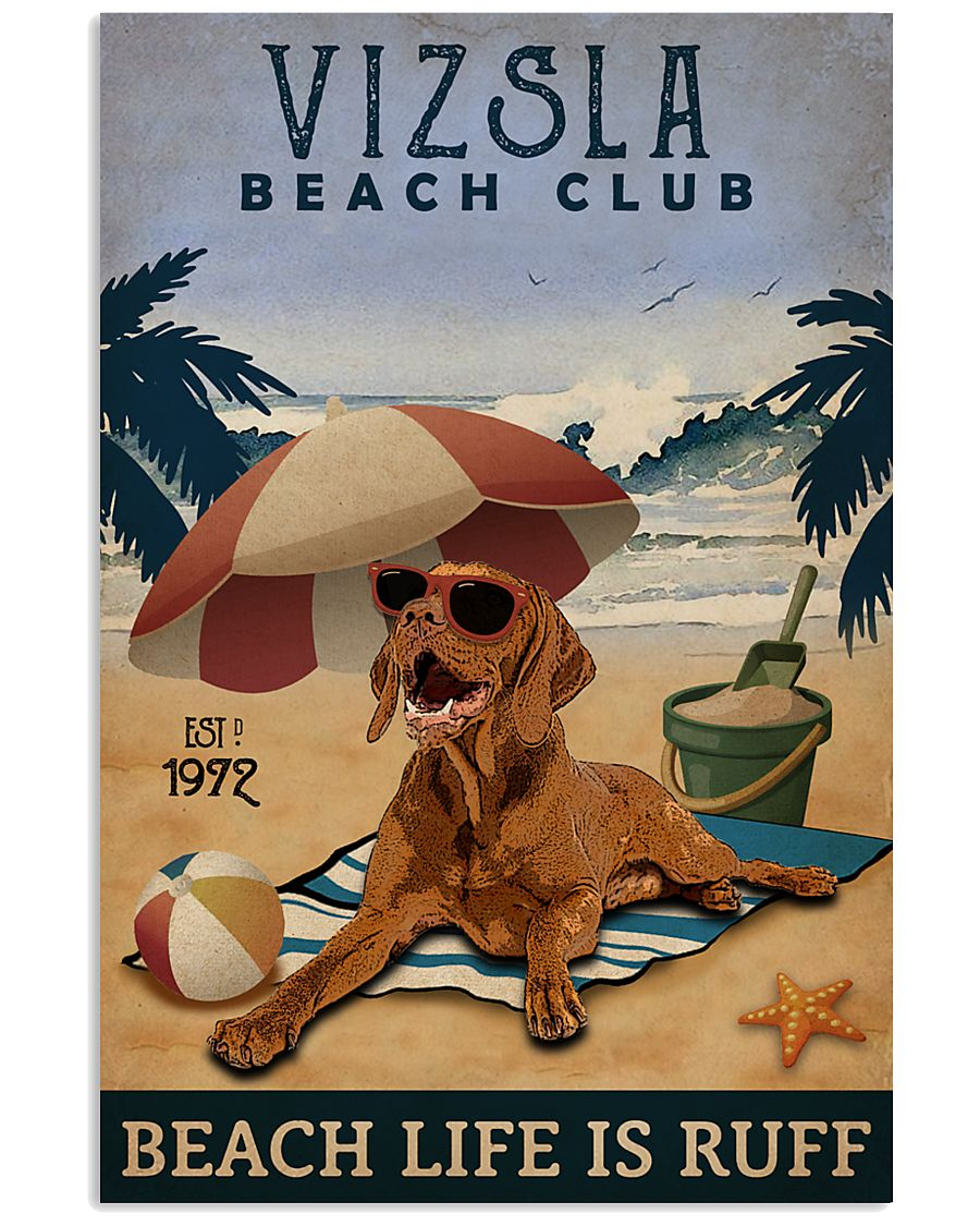 Vintage Beach Club Is Vizsla 11x17 Poster
