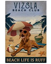 Vintage Beach Club Is Vizsla 11x17 Poster front
