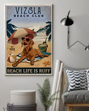 Vintage Beach Club Is Vizsla 11x17 Poster lifestyle-poster-1