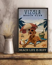 Vintage Beach Club Is Vizsla 11x17 Poster lifestyle-poster-3