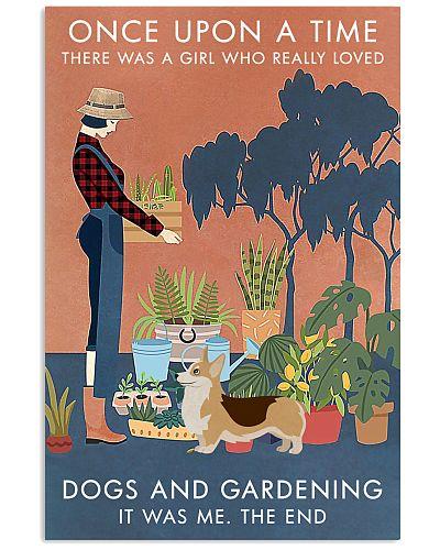 Vintage Once Upon A Time Gardening Corgi