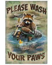 Raccoon Please Wash Your Paws 16x24 Poster front