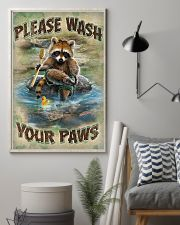 Raccoon Please Wash Your Paws 16x24 Poster lifestyle-poster-1