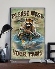 Raccoon Please Wash Your Paws 16x24 Poster lifestyle-poster-2
