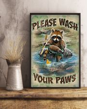 Raccoon Please Wash Your Paws 16x24 Poster lifestyle-poster-3