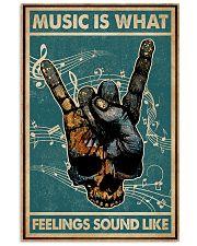 Retro Skull Rock Hand Music Feel Sound Like  11x17 Poster front