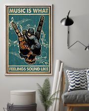Retro Skull Rock Hand Music Feel Sound Like  11x17 Poster lifestyle-poster-1