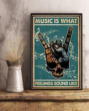 Retro Skull Rock Hand Music Feel Sound Like  11x17 Poster lifestyle-poster-3