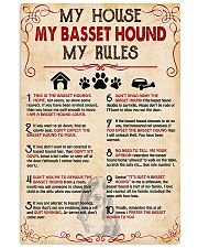 My Basset Hound My House My Rules 11x17 Poster front
