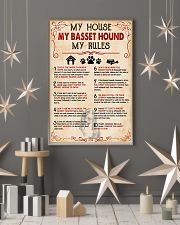 My Basset Hound My House My Rules 11x17 Poster lifestyle-holiday-poster-1