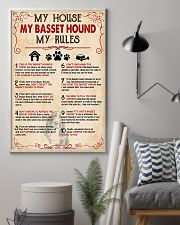 My Basset Hound My House My Rules 11x17 Poster lifestyle-poster-1
