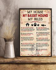 My Basset Hound My House My Rules 11x17 Poster lifestyle-poster-3
