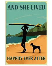 She Lived Happily Surfing Doberman Pinscher 11x17 Poster front