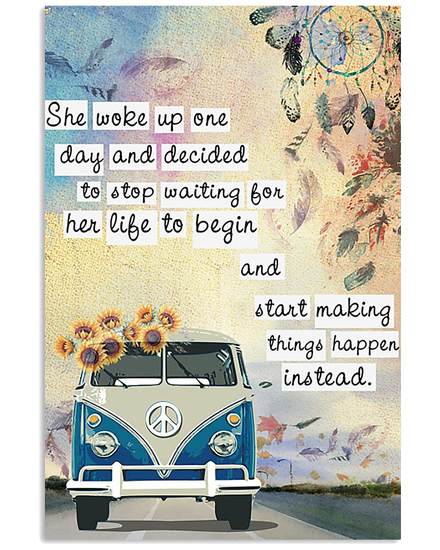 Hippie She Woke Up One Day 11x17 Poster