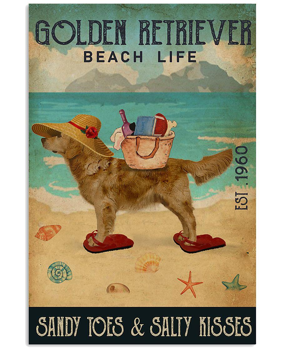 Beach Life Sandy Toes Golden Retriever 16x24 Poster