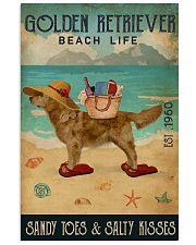 Beach Life Sandy Toes Golden Retriever 16x24 Poster front