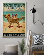 Beach Life Sandy Toes Golden Retriever 16x24 Poster lifestyle-poster-1