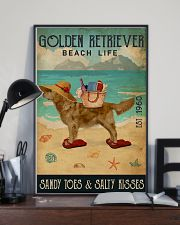 Beach Life Sandy Toes Golden Retriever 16x24 Poster lifestyle-poster-2