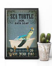 Vintage Bath Soap Sea Turtle 11x17 Poster lifestyle-poster-8
