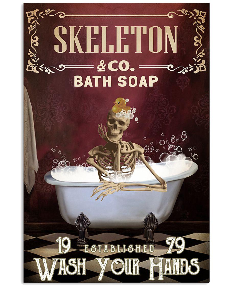 Red Bath Soap Skeleton 11x17 Poster
