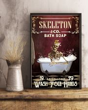Red Bath Soap Skeleton 11x17 Poster lifestyle-poster-3
