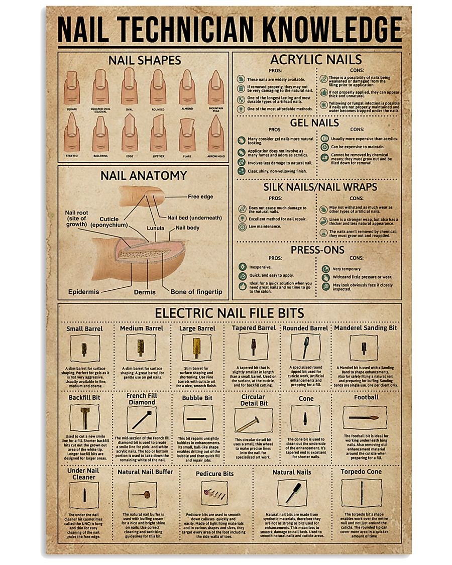 Nail Technician Knowledge 11x17 Poster