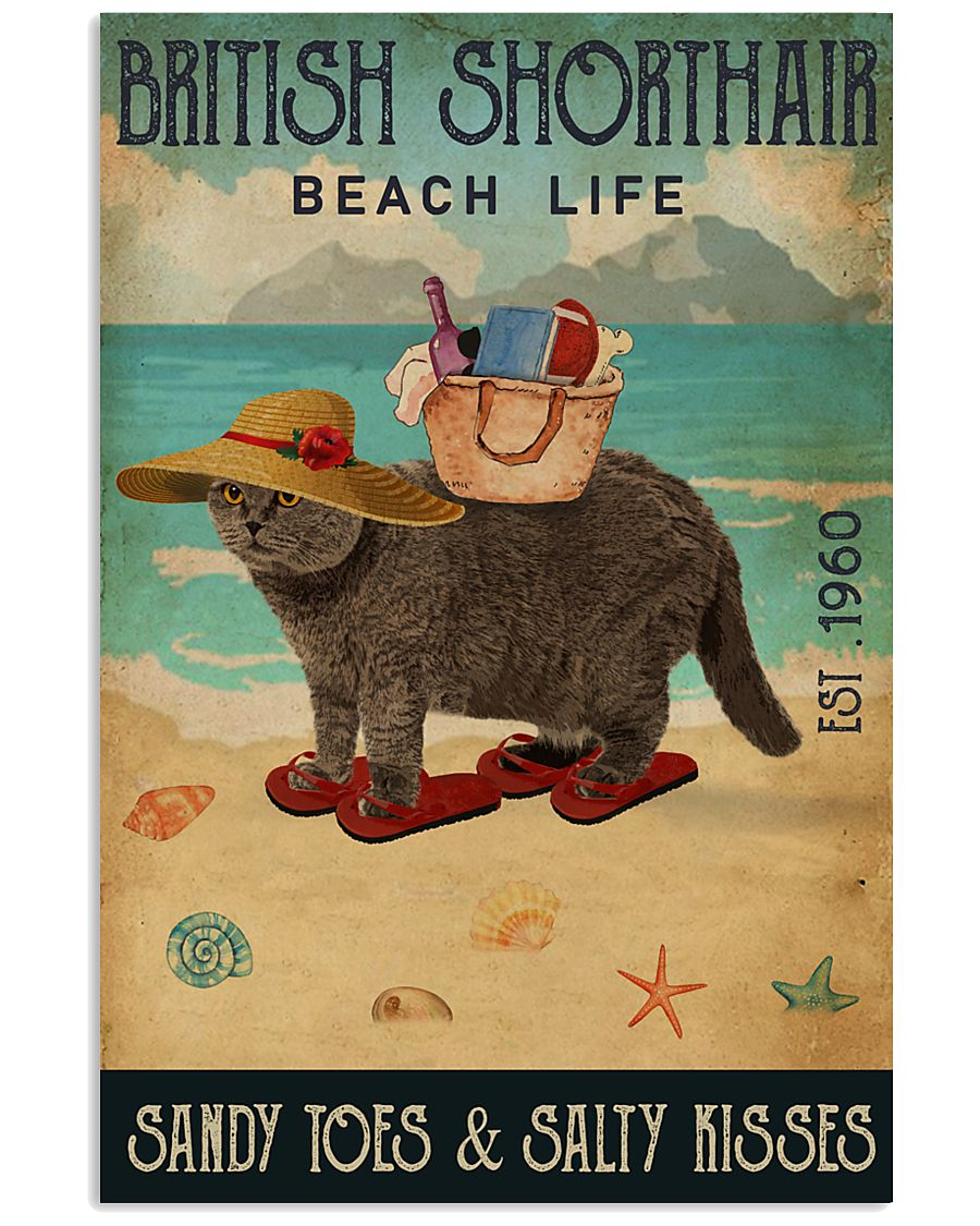 Beach Life Sandy Toes British Shorthair 11x17 Poster
