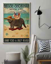 Beach Life Sandy Toes British Shorthair 11x17 Poster lifestyle-poster-1