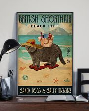 Beach Life Sandy Toes British Shorthair 11x17 Poster lifestyle-poster-2