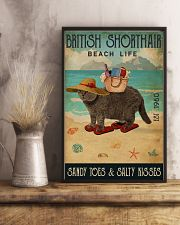 Beach Life Sandy Toes British Shorthair 11x17 Poster lifestyle-poster-3