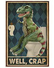 Retro Restroom Dinosaur Well Crap 16x24 Poster front