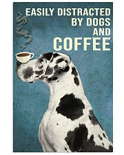 Dictracted By Dogs And Coffee 11x17 Poster front