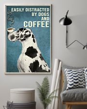Dictracted By Dogs And Coffee 11x17 Poster lifestyle-poster-1
