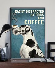 Dictracted By Dogs And Coffee 11x17 Poster lifestyle-poster-2