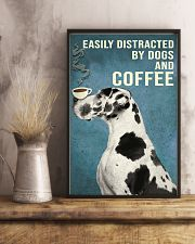 Dictracted By Dogs And Coffee 11x17 Poster lifestyle-poster-3