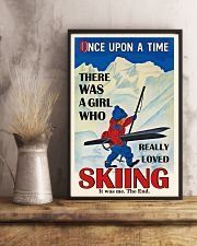 Once Upon A Time Skiing Brown Haired Girl 16x24 Poster lifestyle-poster-3