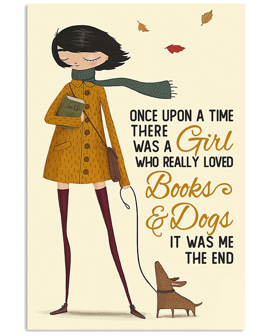Autumn Girl Once Upon A Time Dog Reading 11x17 Poster