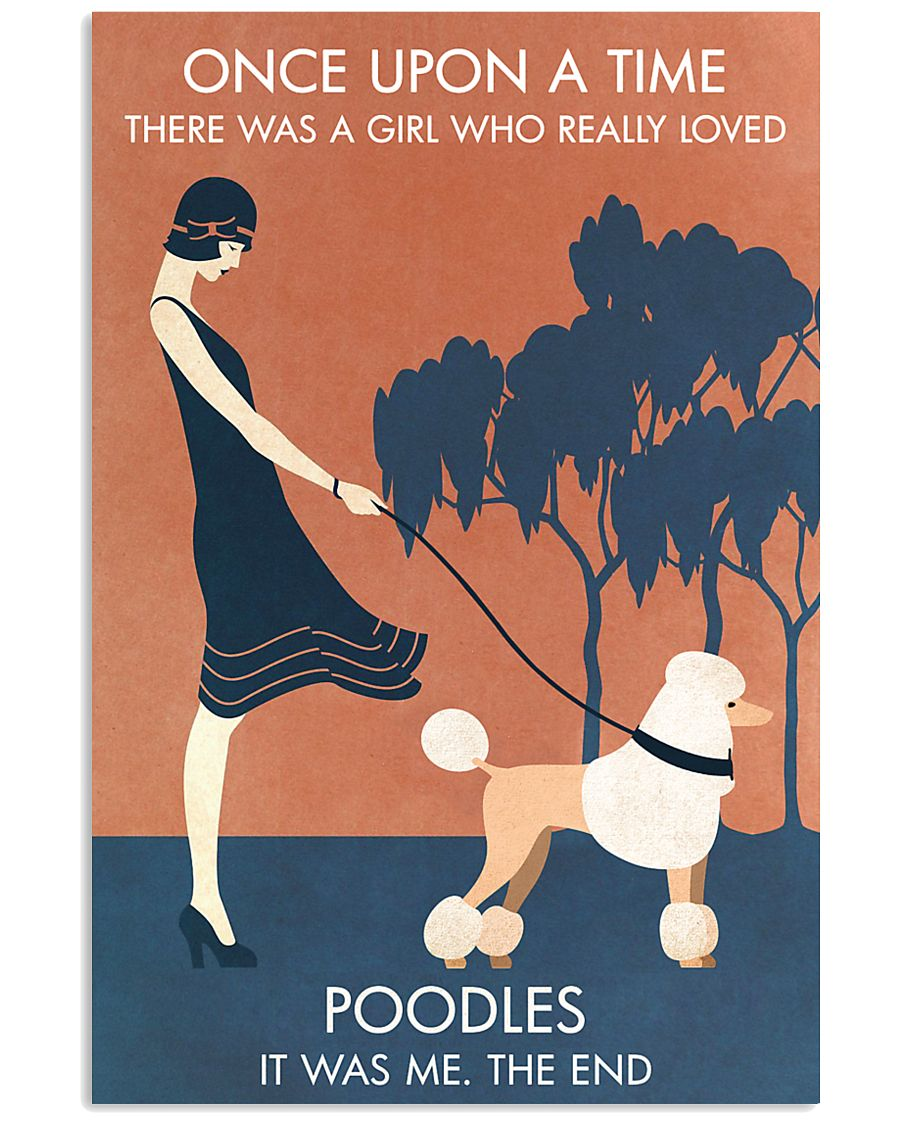 Vintage Girl Once Upon A Time Poodle 11x17 Poster