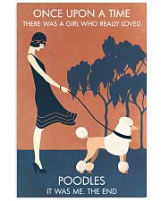 Vintage Girl Once Upon A Time Poodle 11x17 Poster front